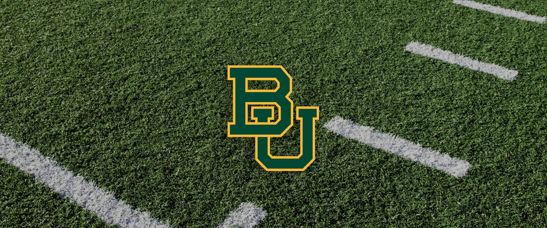 Baylor logo on football field