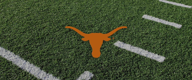 University of Texas logo on football field