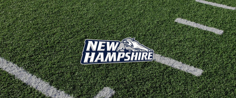 New Hampshire logo on football field