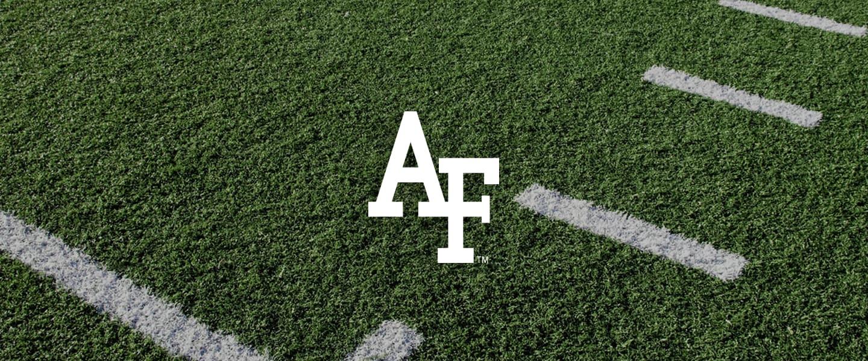 Air Force logo on football field