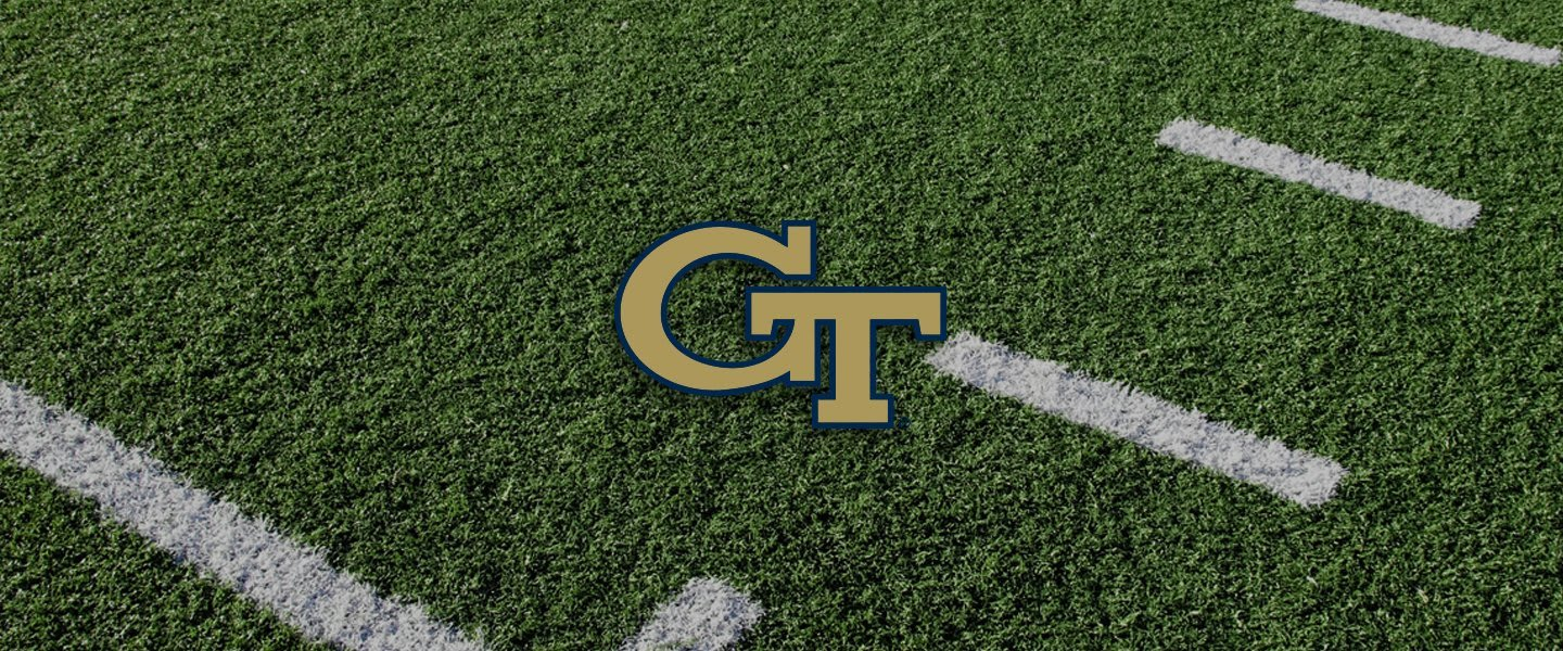 Georgia Tech logo on football field