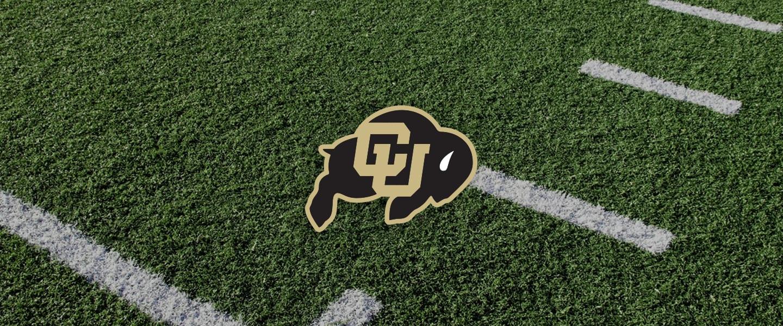 Colorado logo on football field
