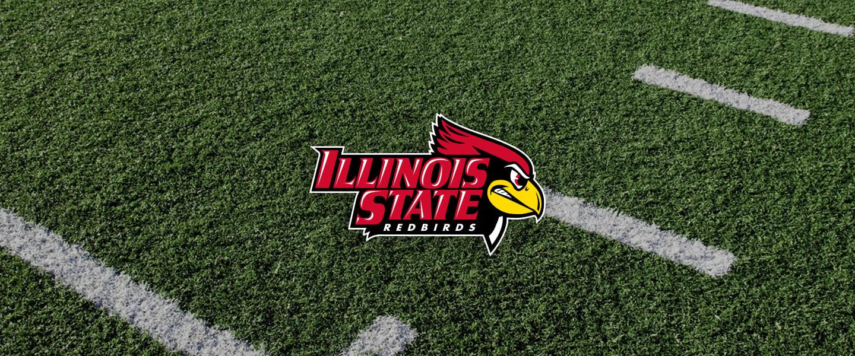 Illinois State logo on football field