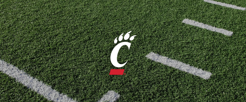 Cincinnati logo on football field
