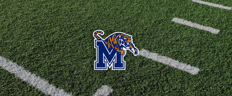 Memphis logo on football field