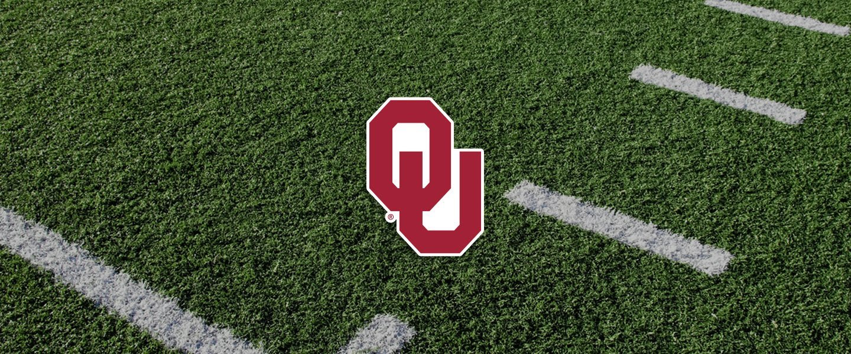 University of Oklahoma logo on football field