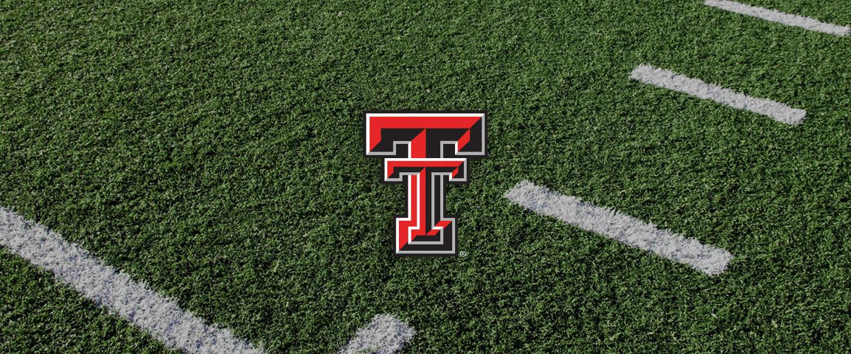 Texas Tech Collegiate Silicone Rings, Texas Tech logo overlaid on football field