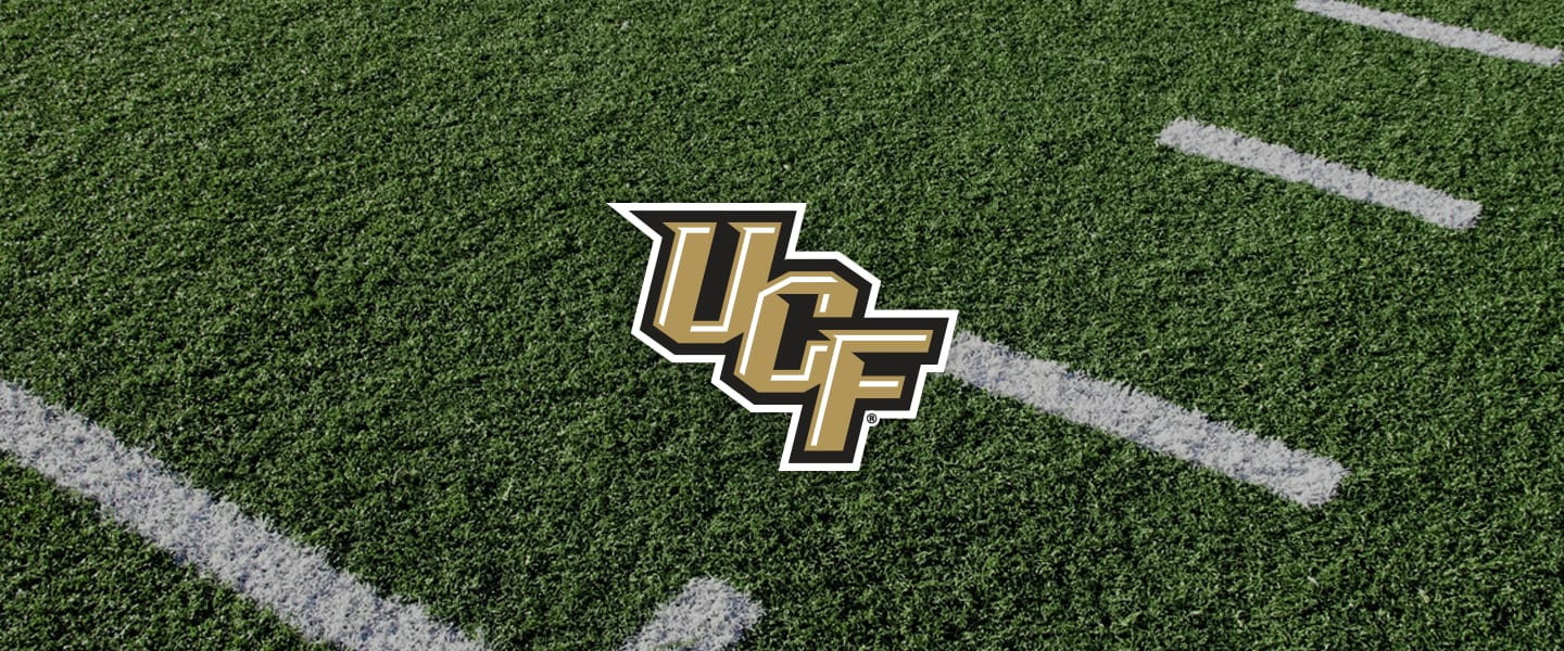 Central Florida logo on football field