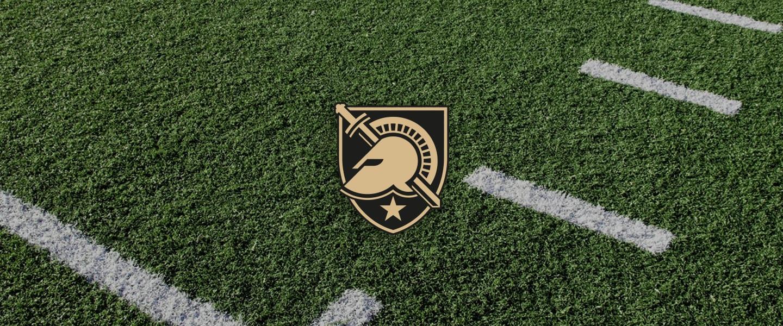 Army logo on football field