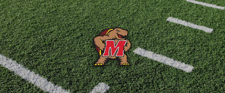 Maryland logo on football field