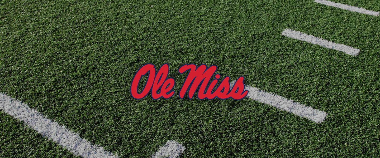 Mississippi logo on football field