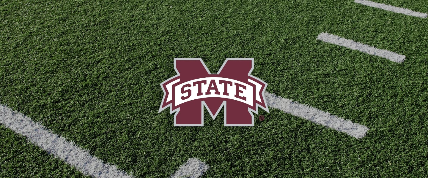 Mississippi State logo on football field
