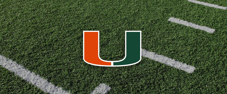 Miami Collegiate Silicone Rings, Miami logo overlaid on football field