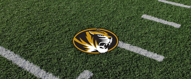 Missouri logo on football field