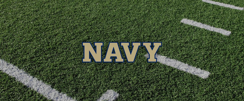 Navy logo on football field