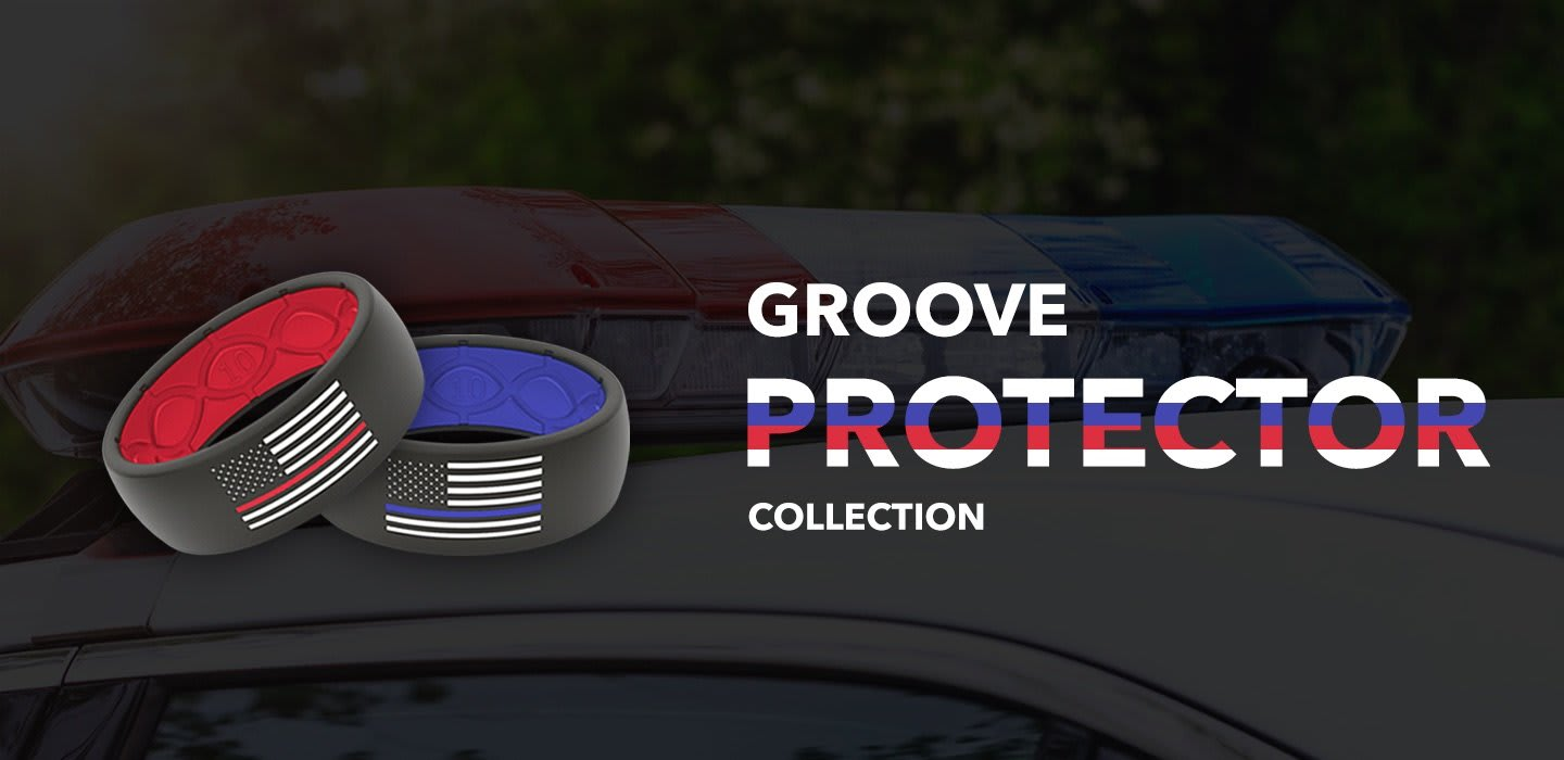 Protector Collection, Protector rings are overlaid on a police car