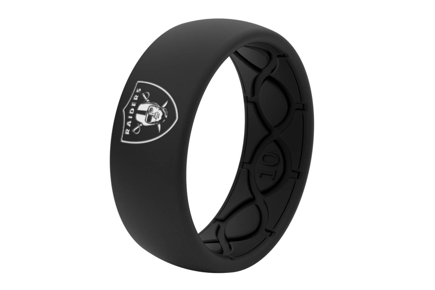 Original NFL Las Vegas Raiders With White Fill - Groove Life Silicone Wedding Rings