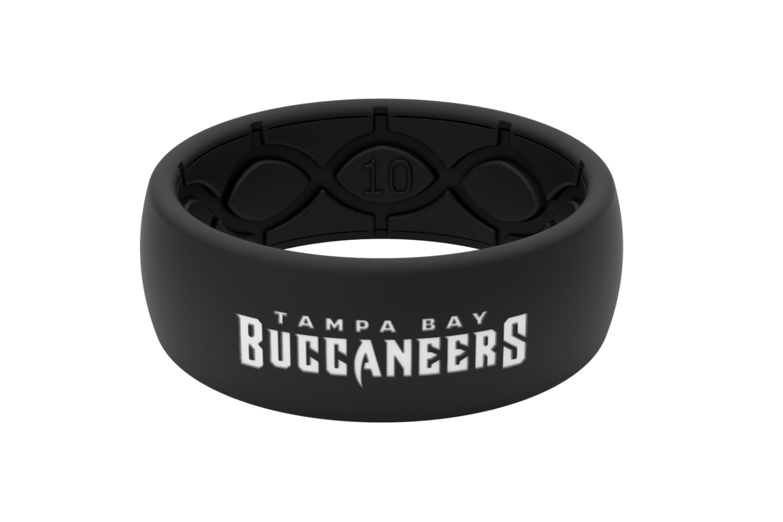 Original NFL Tampa Bay Buccaneers Black - Groove Life Silicone Wedding Rings