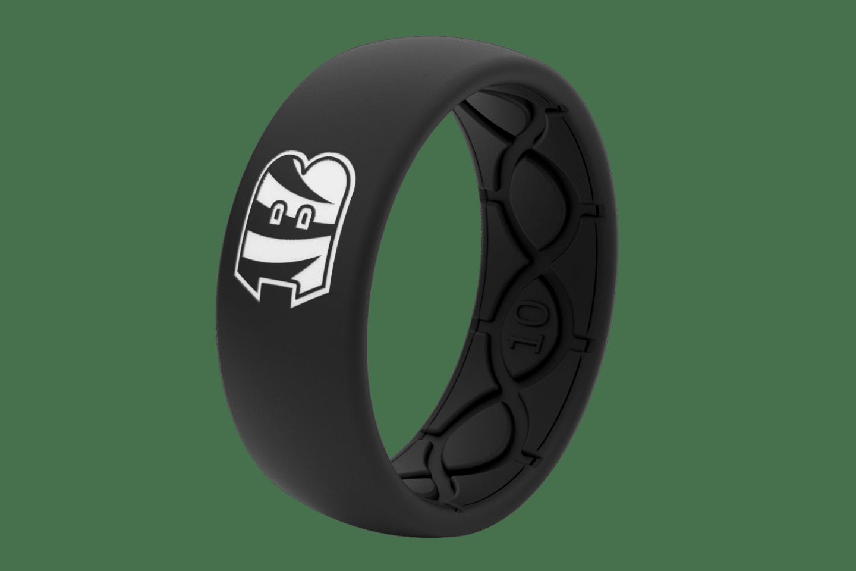 Original NFL Cincinnati Bengals Black - Groove Life Silicone Wedding Rings