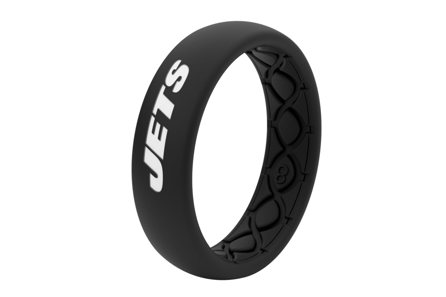 Thin NFL New York Jets Black - Groove Life Silicone Wedding Rings