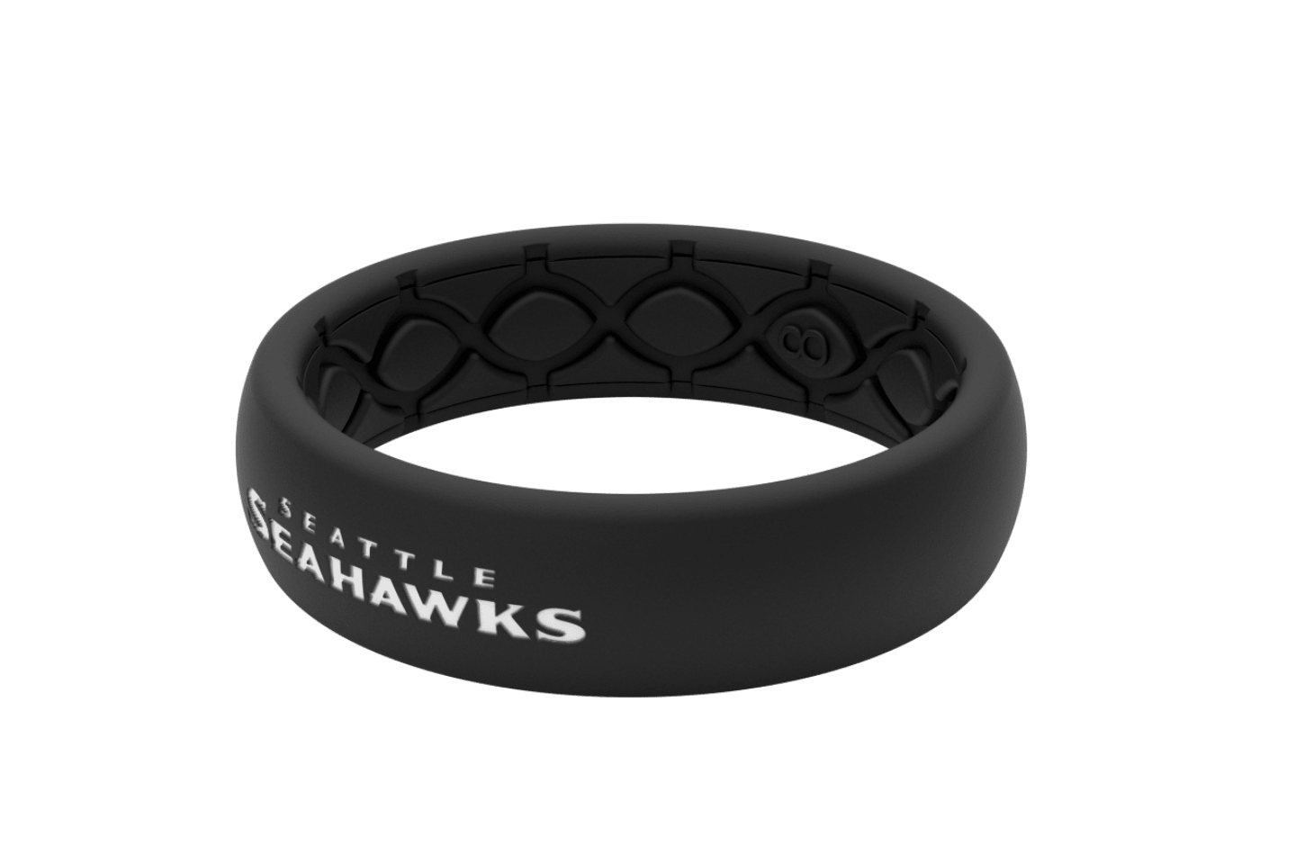 Thin NFL Seattle Seahawks Black - Groove Life Silicone Wedding Rings