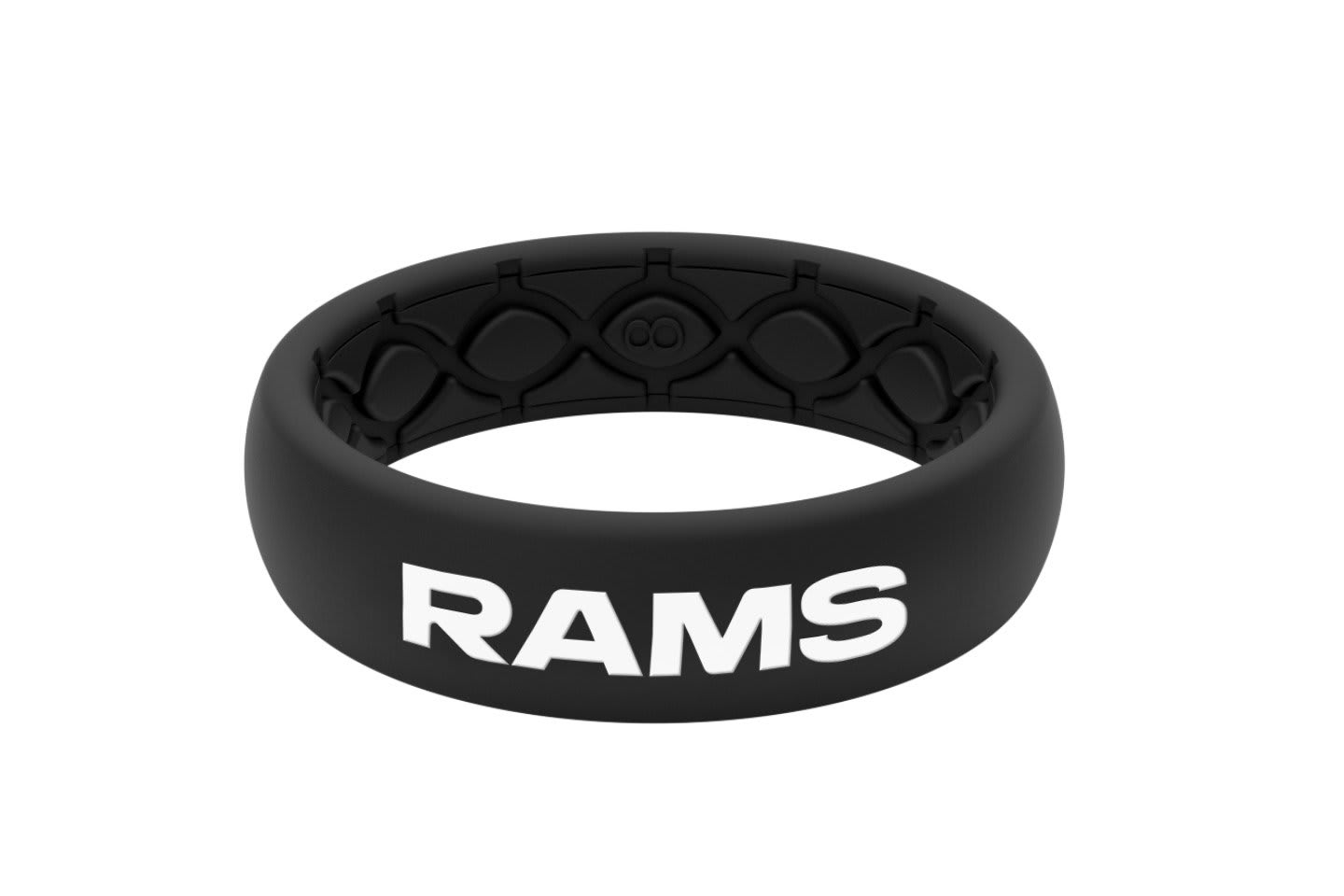 Thin NFL Los Angeles Rams Black - Groove Life Silicone Wedding Rings