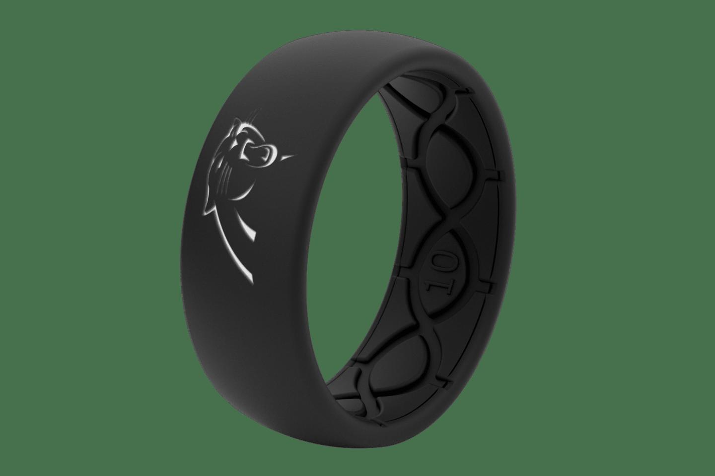 Original NFL Carolina Panthers Black - Groove Life Silicone Wedding Rings