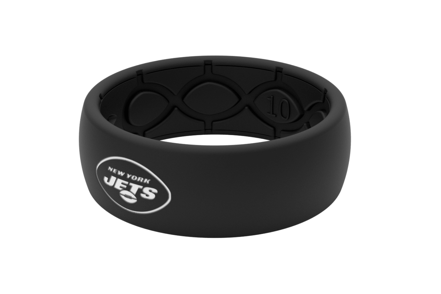 Original NFL New York Jets Black - Groove Life Silicone Wedding Rings