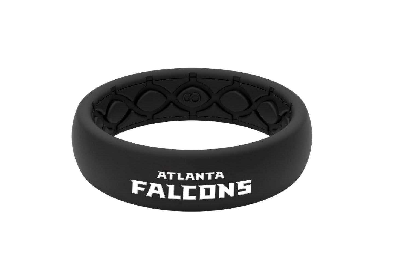 Thin NFL Atlanta Falcons Black - Groove Life Silicone Wedding Rings