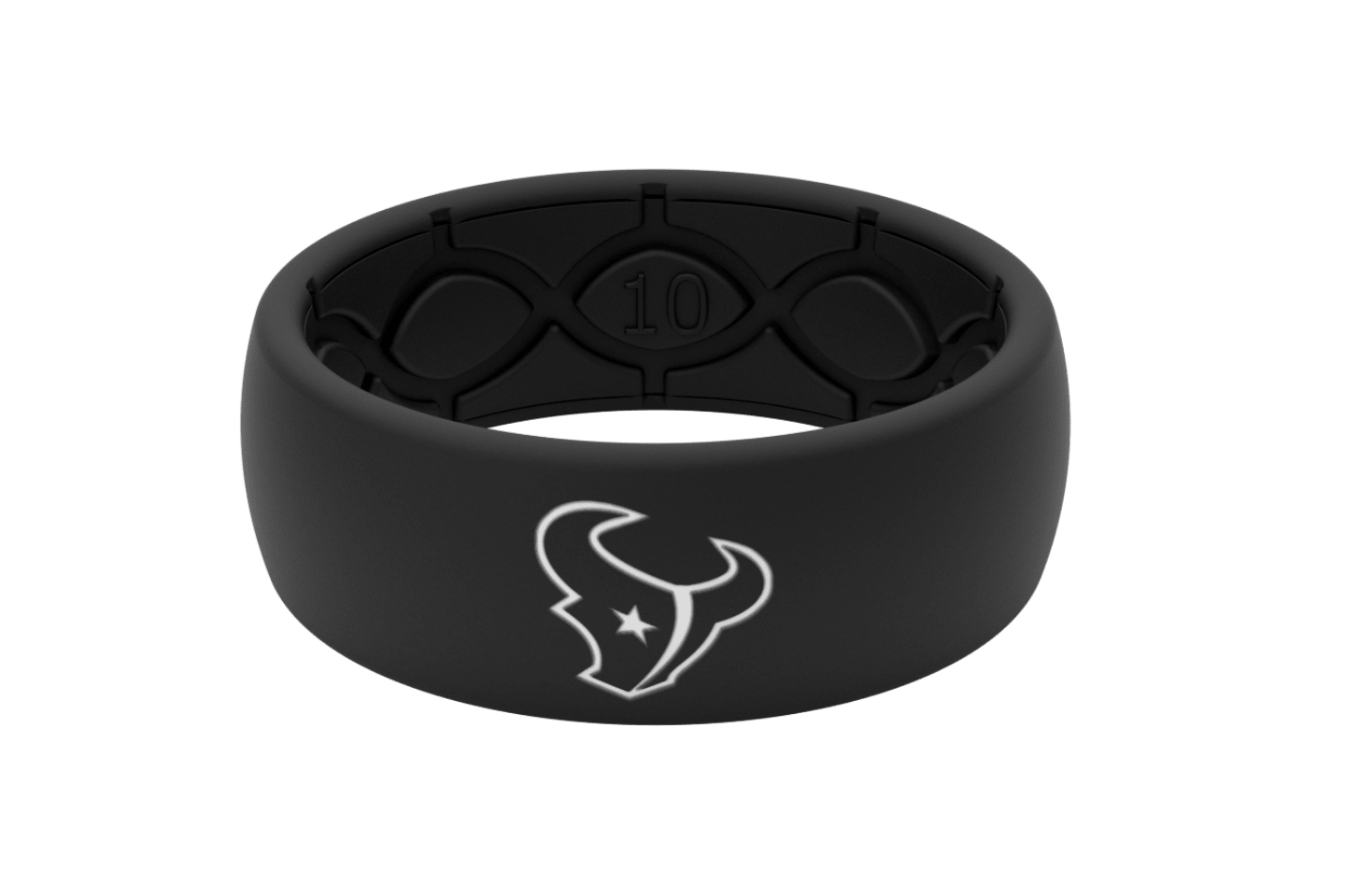 Original NFL Houston Texans Black - Groove Life Silicone Wedding Rings