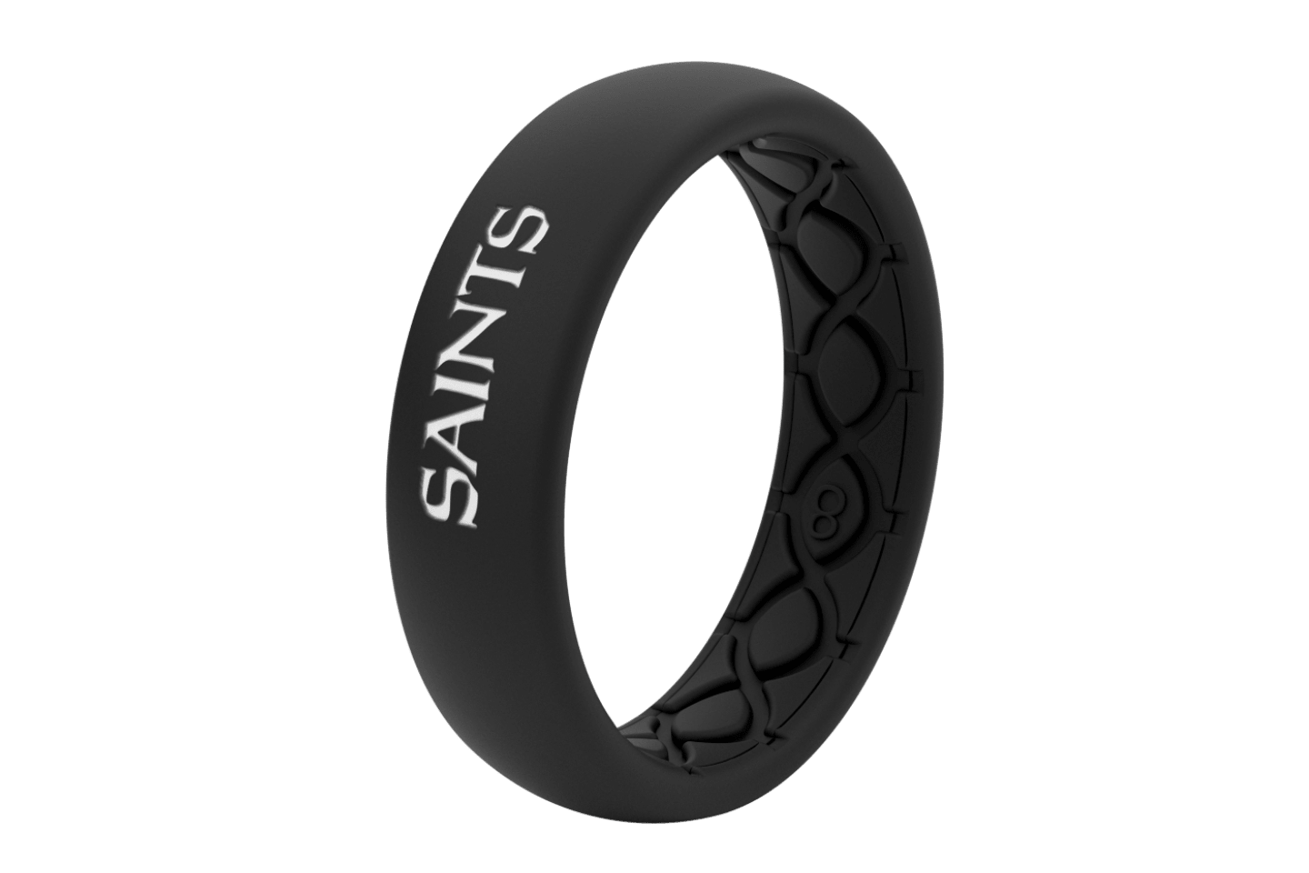 Thin NFL New Orleans Saints Black - Groove Life Silicone Wedding Rings