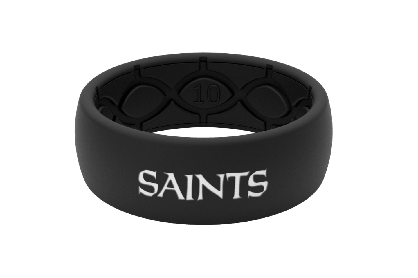 Original NFL New Orleans Saints Black - Groove Life Silicone Wedding Rings