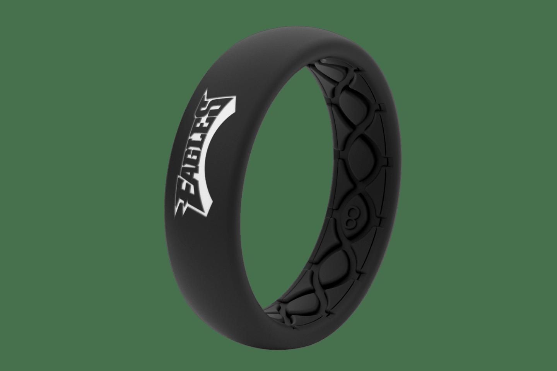 Thin NFL Philadelphia Eagles Black - Groove Life Silicone Wedding Rings