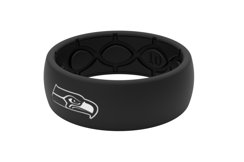 Original NFL Seattle Seahawks Black - Groove Life Silicone Wedding Rings