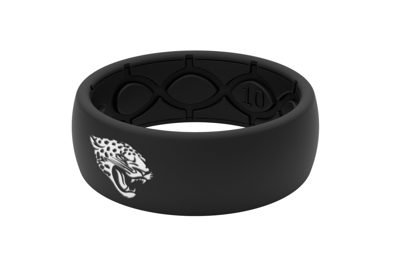 Original NFL Jacksonville Jaguars Black - Groove Life Silicone Wedding Rings