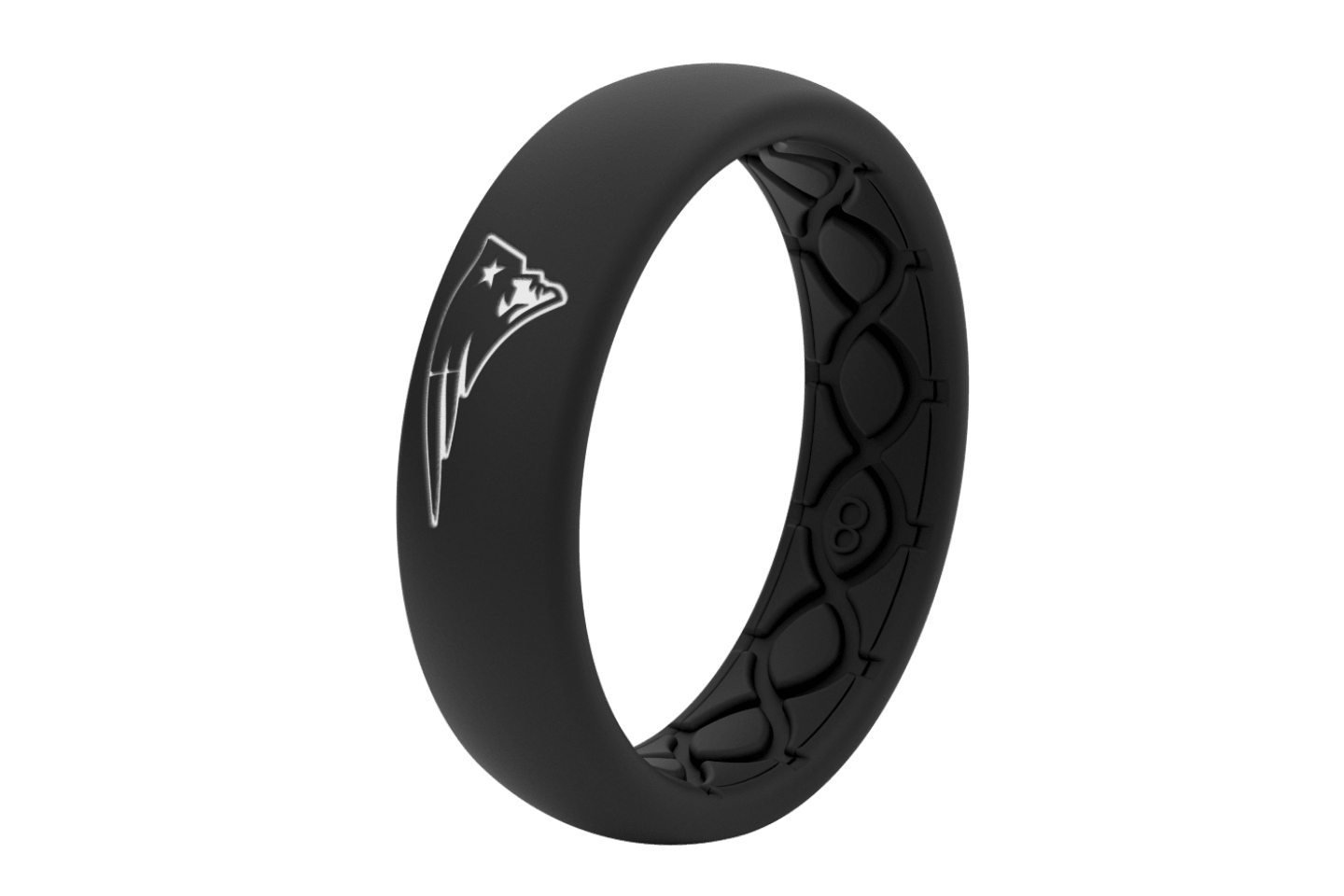 Thin NFL New England Patriots Black - Groove Life Silicone Wedding Rings