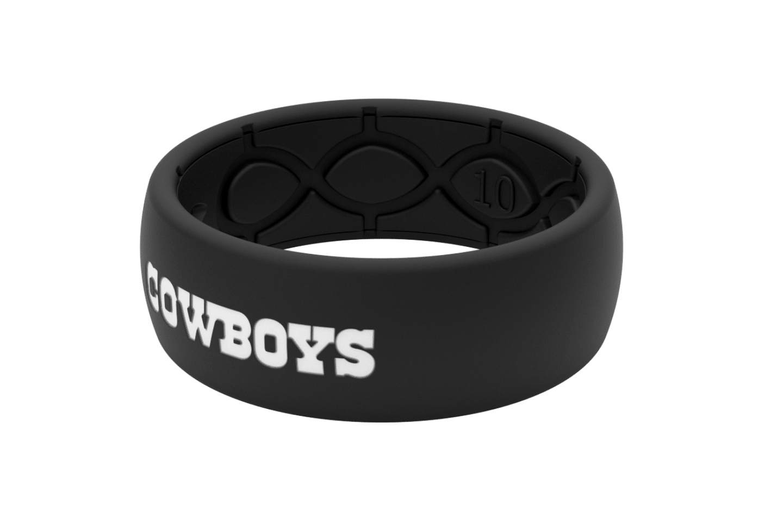 Original NFL Dallas Cowboys Black - Groove Life Silicone Wedding Rings