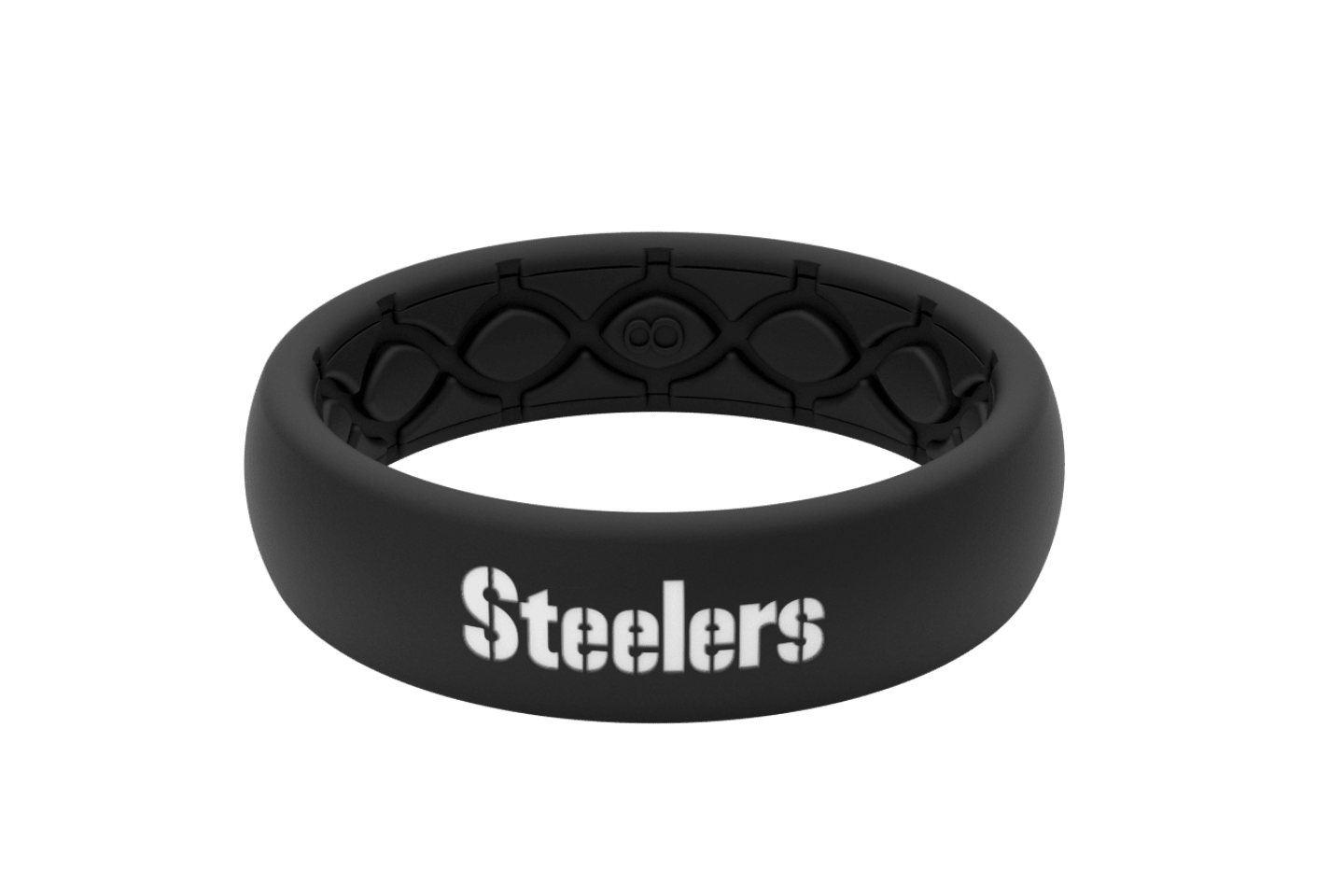 Thin NFL Pittsburgh Steelers Black - Groove Life Silicone Wedding Rings