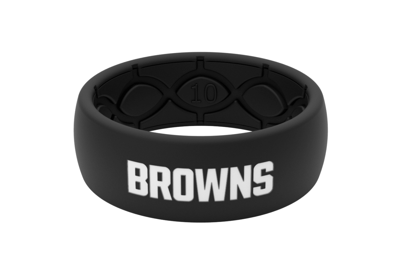 Original NFL Cleveland Browns Black - Groove Life Silicone Wedding Rings