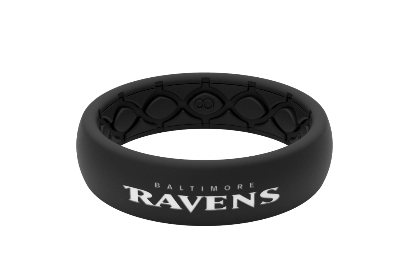 Thin NFL Baltimore Ravens Black - Groove Life Silicone Wedding Rings
