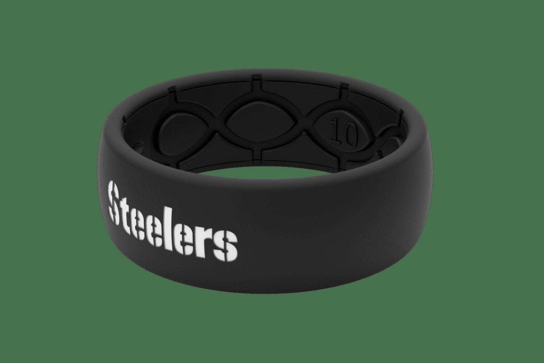 Original NFL Pittsburgh Steelers Black - Groove Life Silicone Wedding Rings