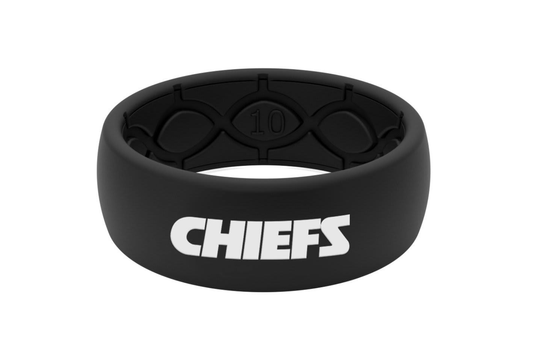 Original NFL Kansas City Chiefs Black - Groove Life Silicone Wedding Rings