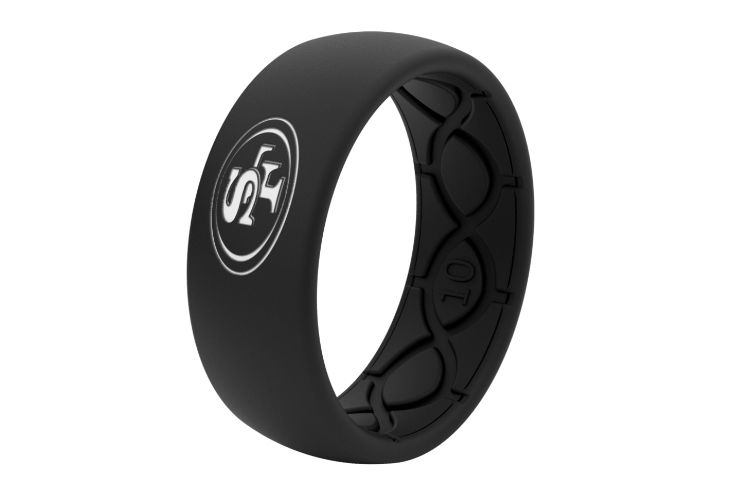 Original NFL San Francisco 49ers Black - Groove Life Silicone Wedding Rings