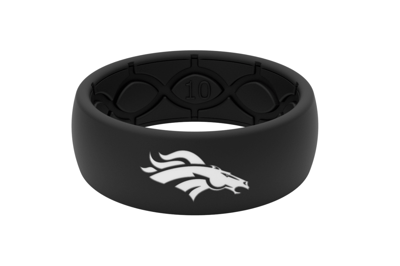 Original NFL Denver Broncos Black - Groove Life Silicone Wedding Rings
