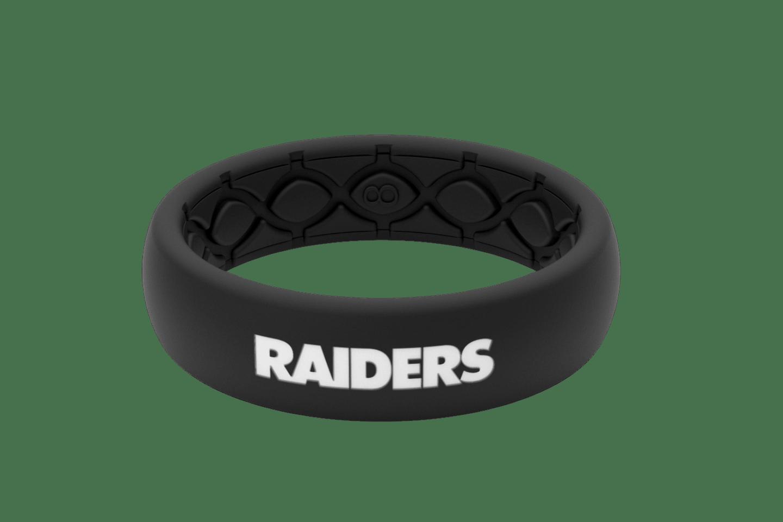 Thin NFL Las Vegas Raiders Black - Groove Life Silicone Wedding Rings