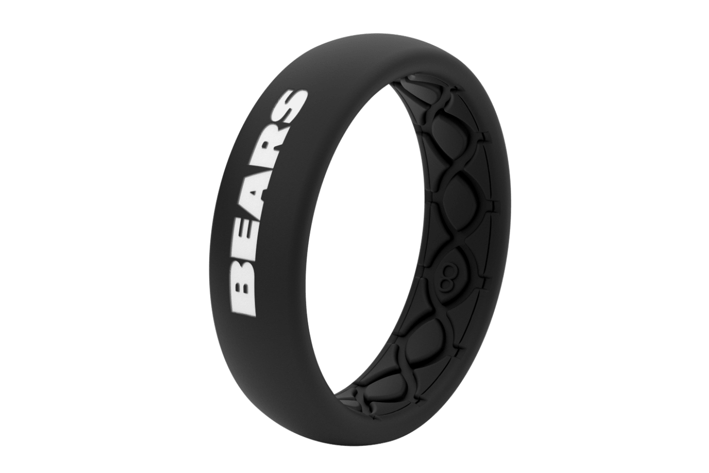 Thin NFL Chicago Bears Black - Groove Life Silicone Wedding Rings