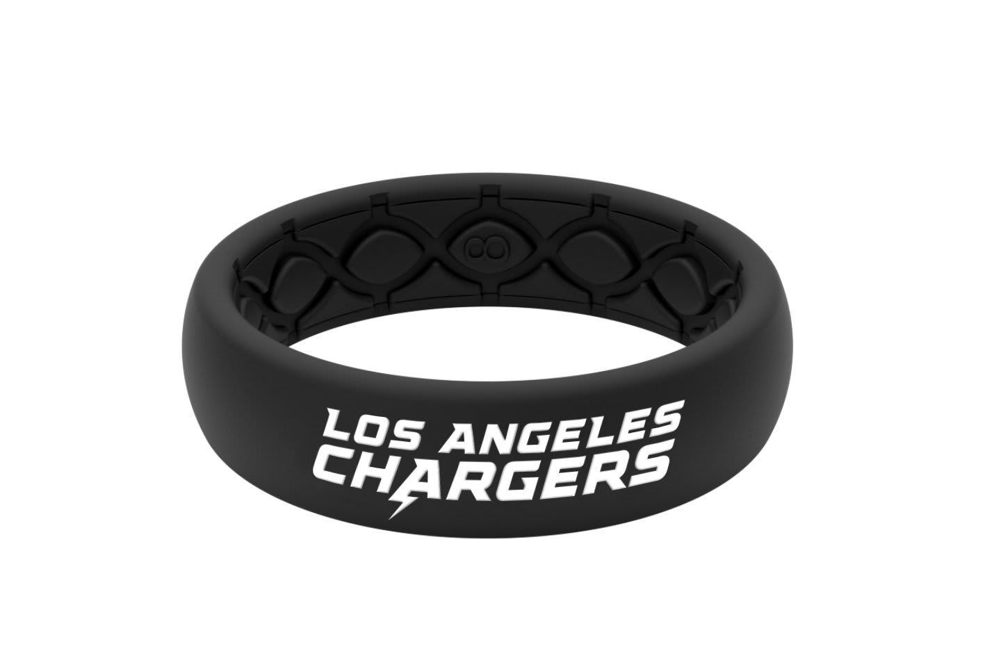 Thin NFL Los Angeles Chargers Black - Groove Life Silicone Wedding Rings
