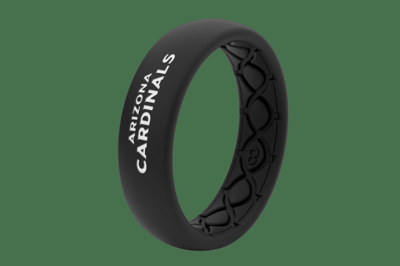 Thin NFL Arizona Cardinals Black - Groove Life Silicone Wedding Rings