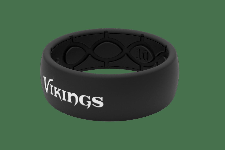 Original NFL Minnesota Vikings Black - Groove Life Silicone Wedding Rings