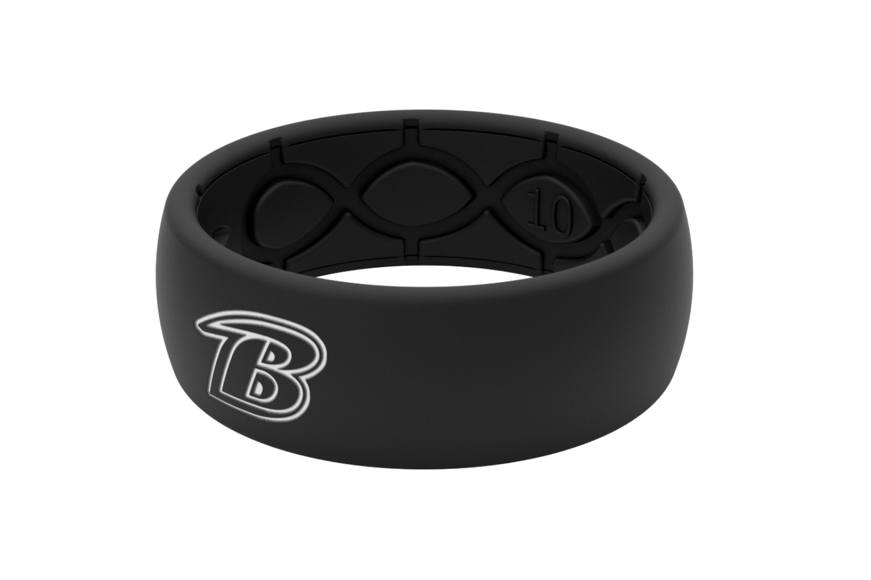 Original NFL Baltimore Ravens Black - Groove Life Silicone Wedding Rings
